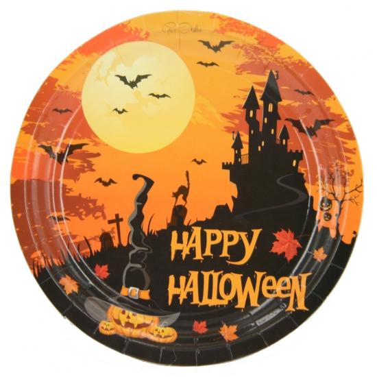 10 Halloween wegwerp bordjes