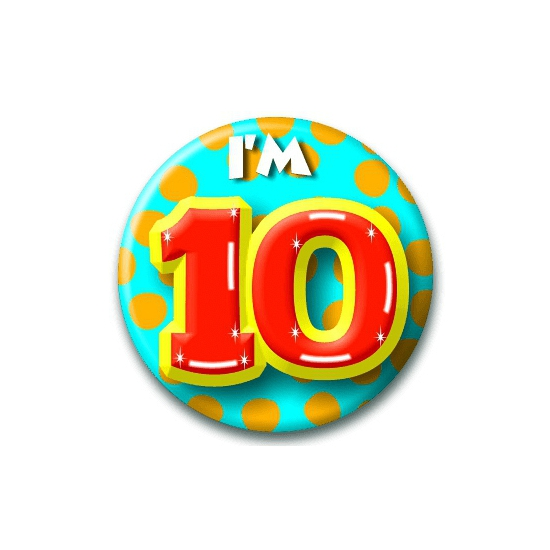 10 jaar button