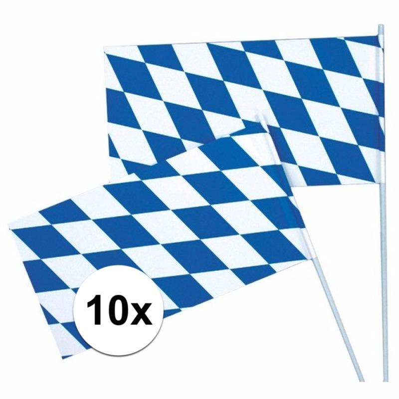 10 Oktoberfest/Bayern zwaaivlaggetjes