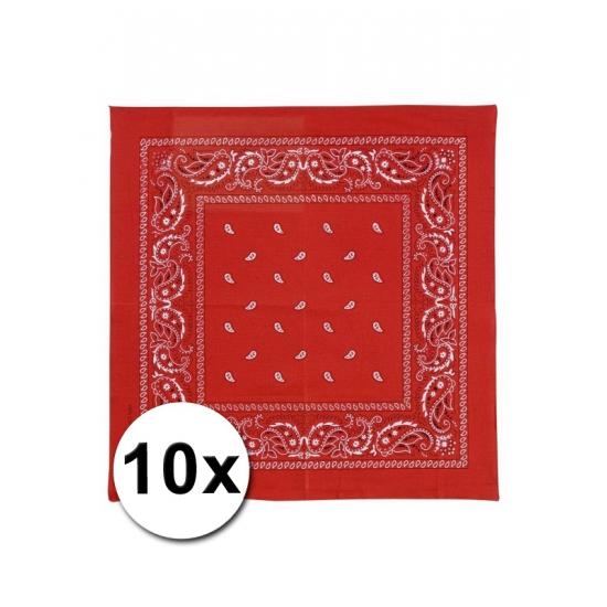 10 rode boerenzakdoeken 50 x 50 cm