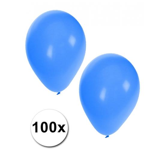100 Blauwe party ballonnen