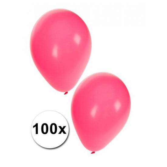 100 Decoratie ballonnen roze