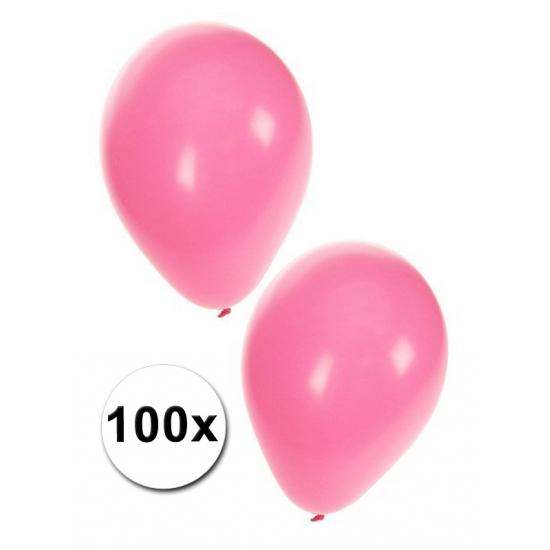 100 Lichtroze dekoratie ballonnen