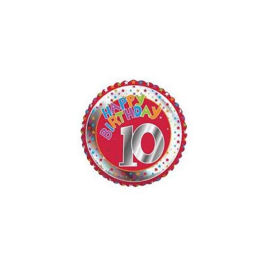 10e verjaardag helium ballon