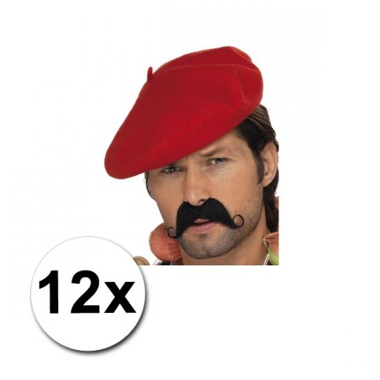 12 Rode Franse baretten