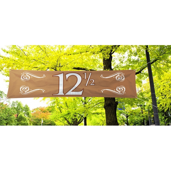 12, 5 jaar decoratie banner 180 x 40 cm