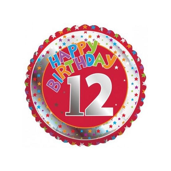 12e verjaardag helium ballon