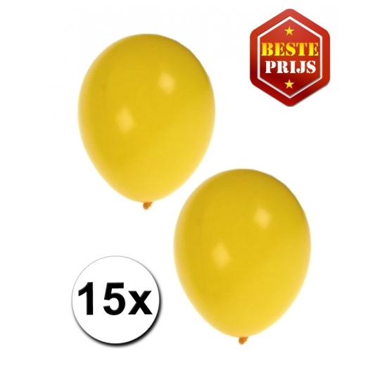 15 Gele decoratie ballonnen