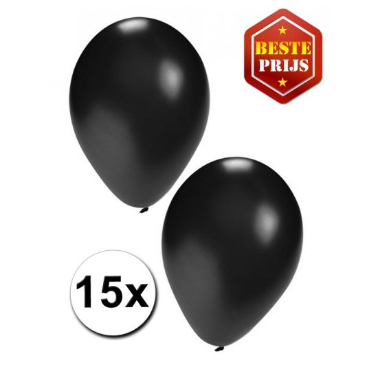 15 zwarte decoratie ballonnen