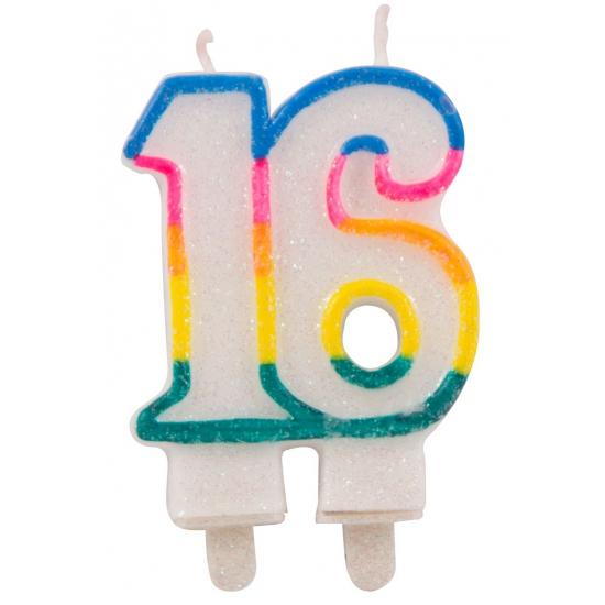 16 feest kaars