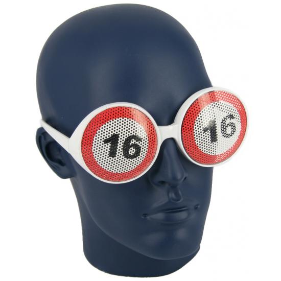 16 jaar verkeersborden bril
