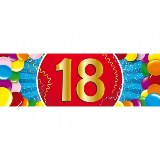 18 jaar sticker