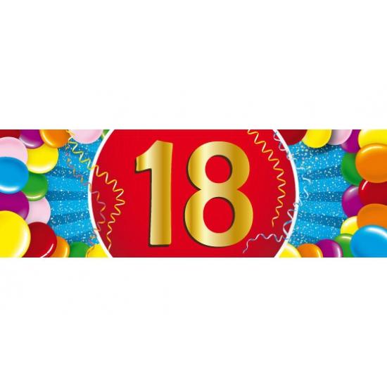 18 jaar versiering sticker