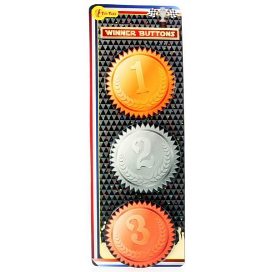 1e prijs winnar buttons