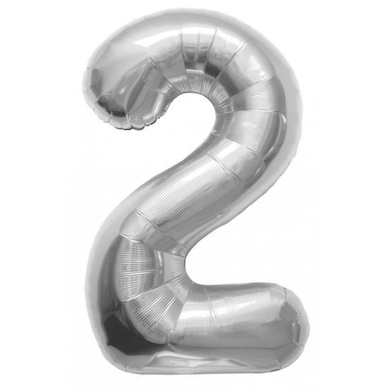 2 jaar helium ballon zilver