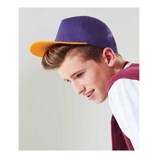2 kleurige beechfield baseball cap voor kinderen