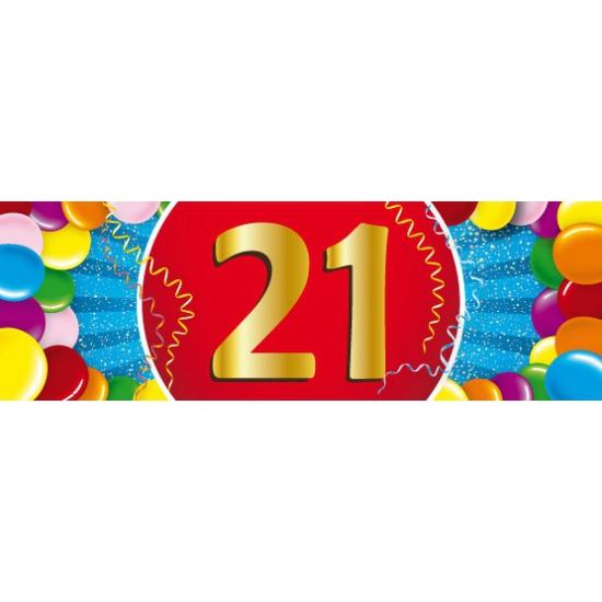 21 jaar versiering sticker