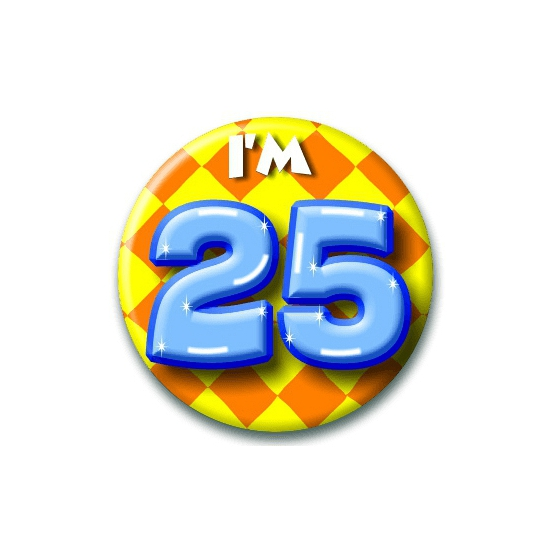 25 jaar button