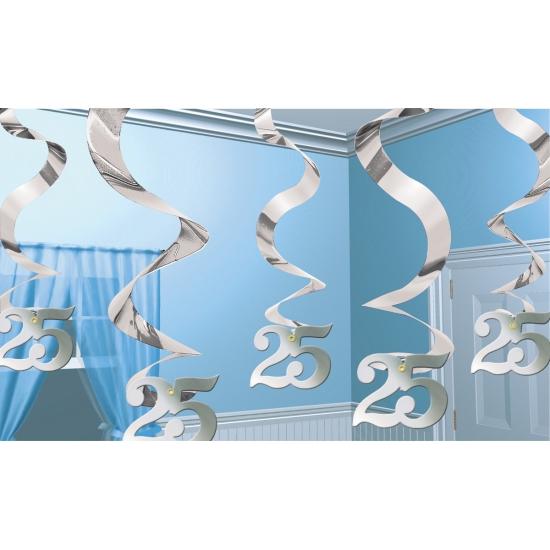 25 jaar jubileum decoratie zilver