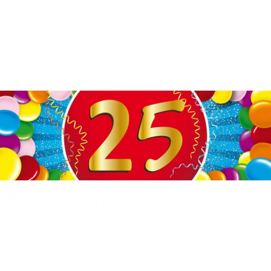 25 jaar sticker