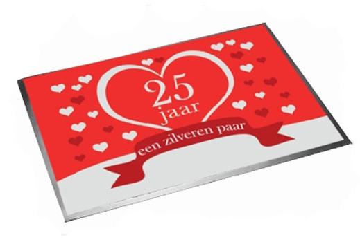 25 jarig huwelijks deurmat