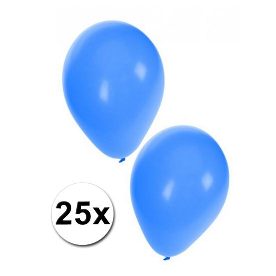 25x blauwe feest ballonnen