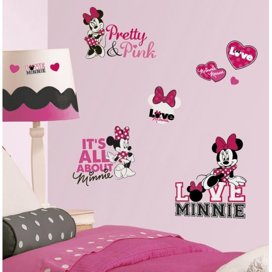 28 muurstickers van Minnie Mouse