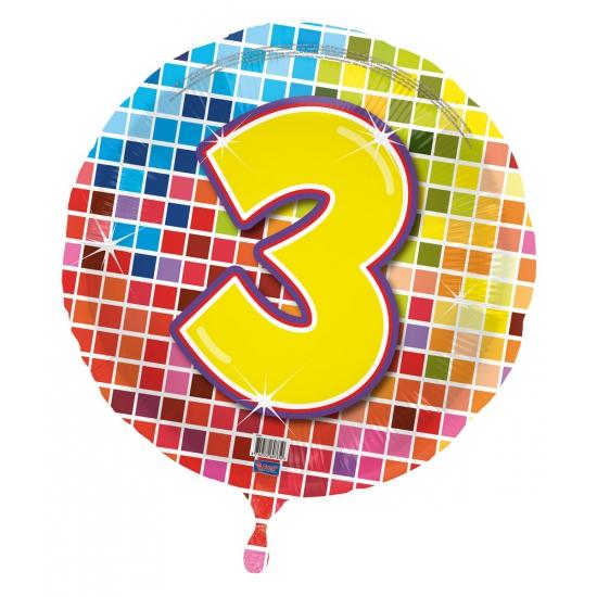 3 jaar folieballon