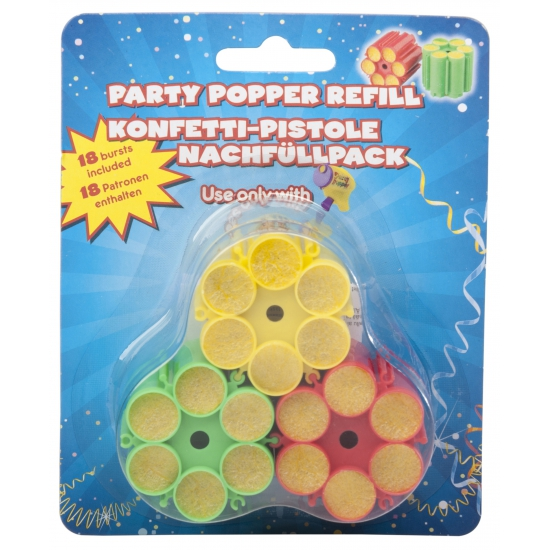 3 keer vulling party popper