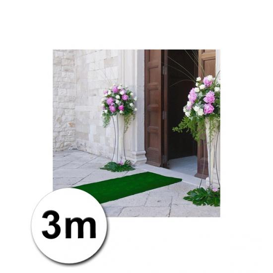 3 meter groene lopers 1 meter breed