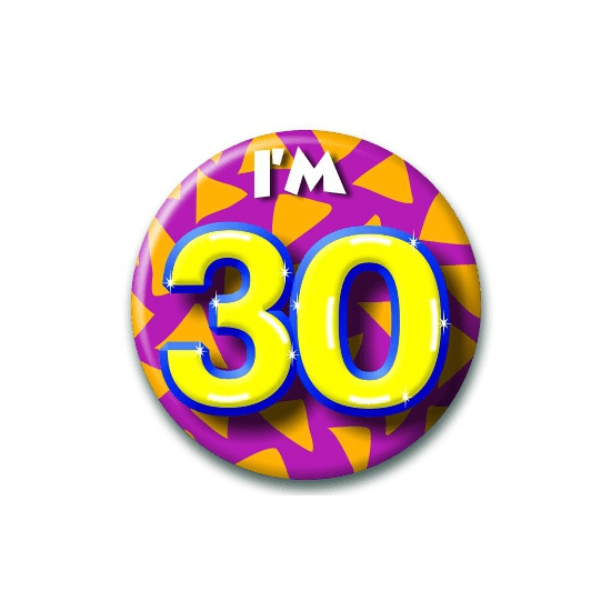 30 jaar button