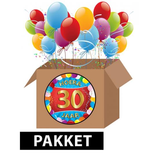 30 jaar feestartikelen pakket