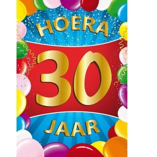 30 jaar thema mega deurposter