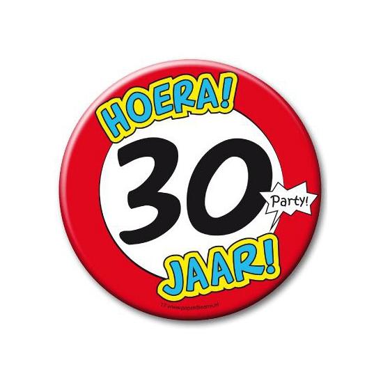 30e verjaardag button XXL