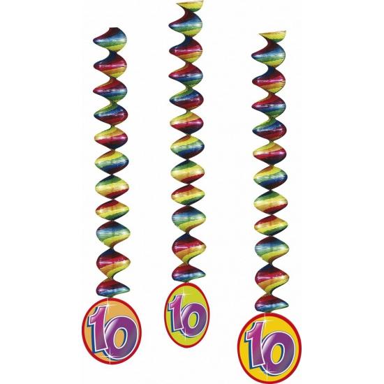 3x feestartikelen 10 jaar spiraal