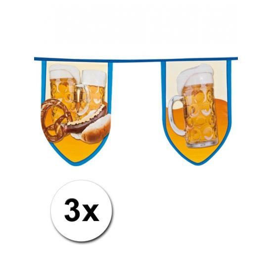 3x Grote bierfeest vlaggetjes 8 meter