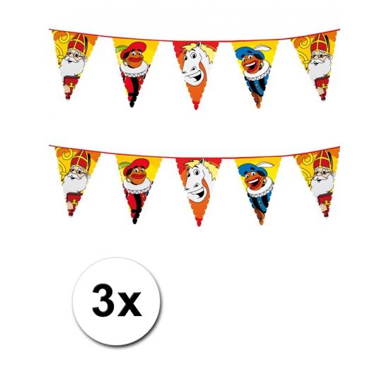 3x Sinterklaas slinger 6 meter