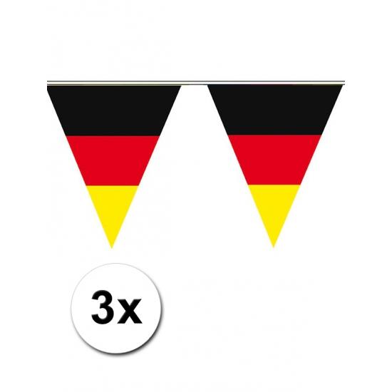 3x Vlaggetjes Duitsland 5 meter