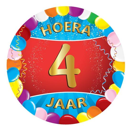4 jaar verjaardag party viltjes