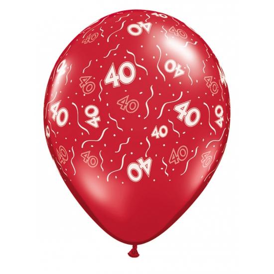 40 jaar jubileum ballonnen rood