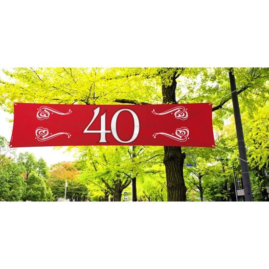 40 jaar jubileum banner rood