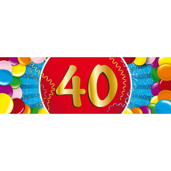 40 jaar sticker