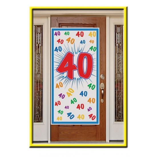 40e verjaardag deurposter 76 x 150 cm