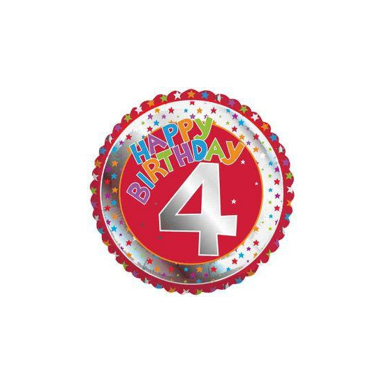 4e verjaardag helium ballon