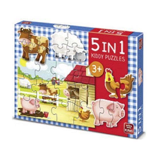 5 kinderpuzzels boerderij dieren