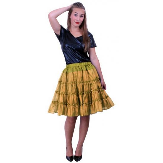 5 laagse gouden petticoat voor dames