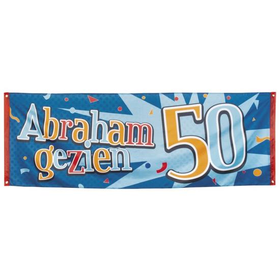 50 jaar Abraham gezien banner 74 x 220
