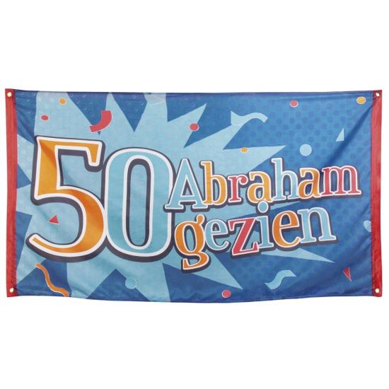 50 jaar gevelvlag Abraham gezien 90 x 150 cm