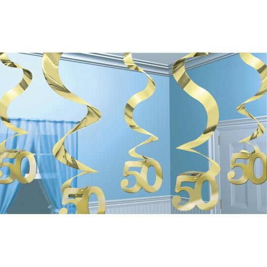 50 jaar jubileum decoratie goud