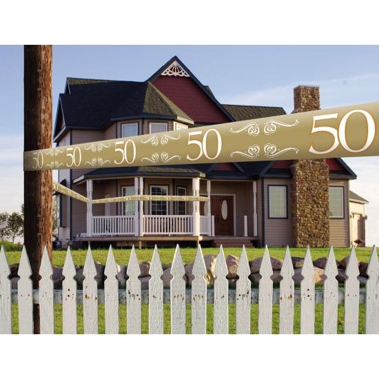 50 jaar jubileum markeerlint goud